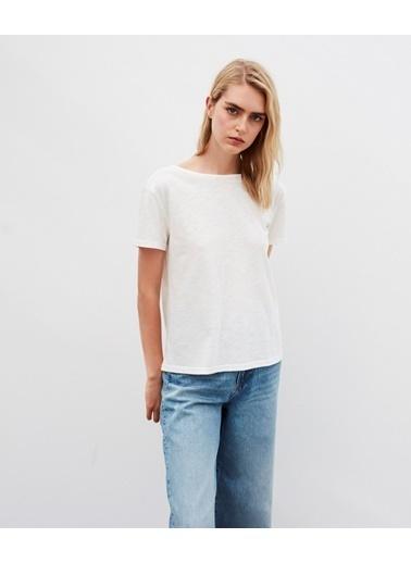Ipekyol Kadın  Tişört IW6200070040 Beyaz